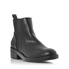 Head Over Heels by Dune - Black 'Pedi' elastic back ankle boot