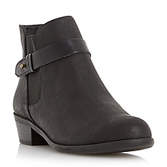 Head Over Heels by Dune - Black 'Paranai' buckle strap chelsea boot