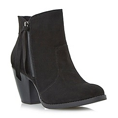 Head Over Heels by Dune - Black cuban heeled ankle boot