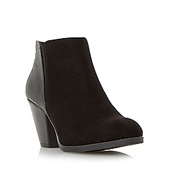 Head Over Heels by Dune - Black 'Pasqua' cuban heel ankle boot