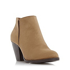 Head Over Heels by Dune - Tan 'Pasqua' cuban heel ankle boot