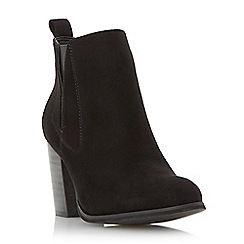 Head Over Heels by Dune - Black 'Parnella' elasticated panel ankle boot