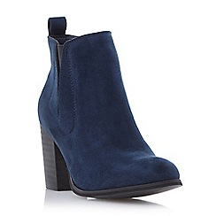 Head Over Heels by Dune - Navy 'Parnella' elasticated panel ankle boot