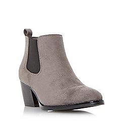 Head Over Heels by Dune - Grey 'Pinyon' almond toe chelsea boot