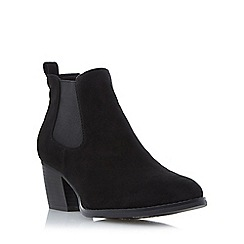 Head Over Heels by Dune - Black 'Pinyon' almond toe chelsea boot