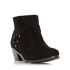 Head Over Heels by Dune - Black 'Penley' side hardware detail ankle boot