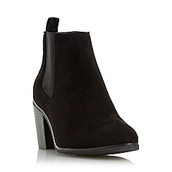 Head Over Heels by Dune - Black 'Paseve' block heel chelsea boot