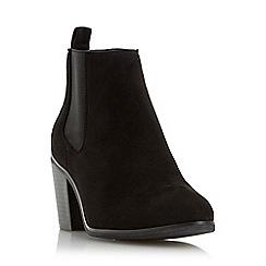 Head Over Heels by Dune - Black 'Paseve' block heel chelsea boot