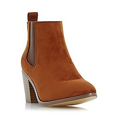 Head Over Heels by Dune - Tan 'Paseve' block heel chelsea boot