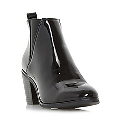 Head Over Heels by Dune - Black 'Prescilla' v-cut chelsea ankle boot