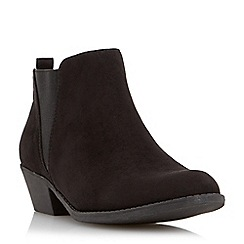 Head Over Heels by Dune - Black elastic insert ankle boot