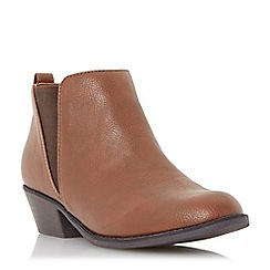 Head Over Heels by Dune - Brown elastic insert ankle boot