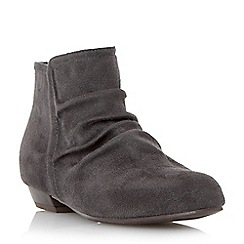 Head Over Heels by Dune - Grey flat ruched ankle boot
