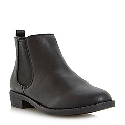 Head Over Heels by Dune - Black flat chelsea ankle boot
