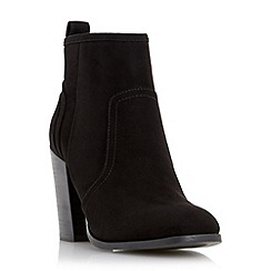 Head Over Heels by Dune - Black 'Presta' block heel ankle boot