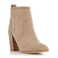 Head Over Heels by Dune - Taupe 'Presta' block heel ankle boot