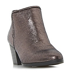 Head Over Heels by Dune - Silver 'Peta' elasticated insert ankle boots