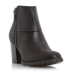 Head Over Heels by Dune - Black cleated sole block heel boot