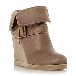 Head Over Heels by Dune - Neutral fold down wedge heel ankle boot