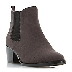 Head Over Heels by Dune - Grey 'Perina' pointed toe chelsea boot