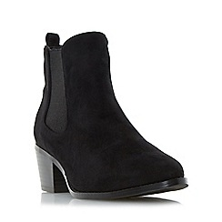 Head Over Heels by Dune - Black 'Perina' pointed toe chelsea boot