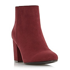 Head Over Heels by Dune - Dark red 'Olive' block heel ankle boot