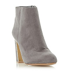 Head Over Heels by Dune - Grey 'Ofelia' metal heel insert ankle boot