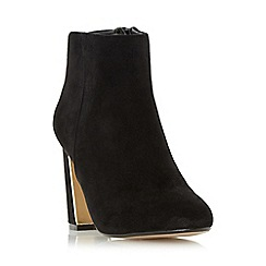 Head Over Heels by Dune - Black 'Ofelia' metal heel insert ankle boot