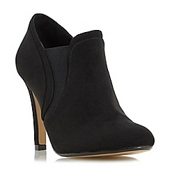 Head Over Heels by Dune - Black 'Octavia' elasticated insert heeled  ankle boot