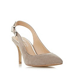 Head Over Heels by Dune - Taupe 'Cissy' slingback pointed toe court shoe