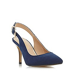 Head Over Heels by Dune - Navy 'Cissy' slingback pointed toe court shoe