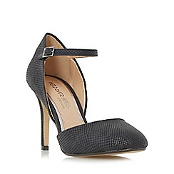 Head Over Heels by Dune - Black 'Corrina' two part round toe court shoe