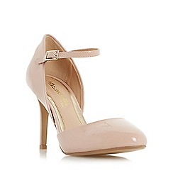 Head Over Heels by Dune - Natural 'Corrina' two part round toe court shoe
