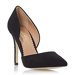Head Over Heels by Dune - Black open side pointed toe court shoe