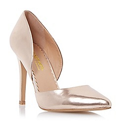 Head Over Heels by Dune - Metallic open side pointed toe court shoe