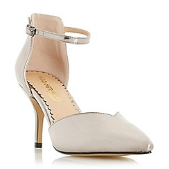 Head Over Heels by Dune - Silver 'Cassim' sweetheart cut court shoe