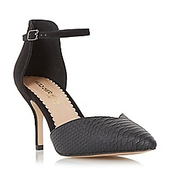 Head Over Heels by Dune - Black 'Cassim' sweetheart cut court shoe