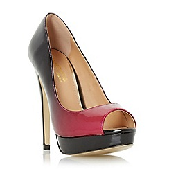 Head Over Heels by Dune - Red 'Calley' ombre peep toe court shoe
