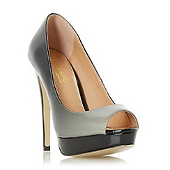 Head Over Heels by Dune - Black 'Calley' ombre peep toe court shoe