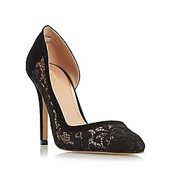 Head Over Heels by Dune - Black 'Clarrice' semi d orsay high heel court shoe