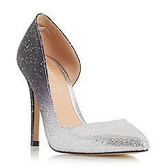 Head Over Heels by Dune - Silver 'Clarrice' semi d orsay high heel court shoe