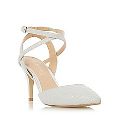 Head Over Heels by Dune - Grey 'Celina' snake print two part court shoe