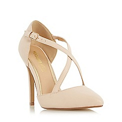 Head Over Heels by Dune - Natural 'Candice' cross strap pointed toe court shoe