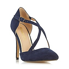 Head Over Heels by Dune - Navy 'Candice' cross strap pointed toe court shoe