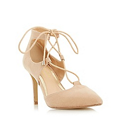 Head Over Heels by Dune - Beige 'Calista' two part ghillie laced court shoe