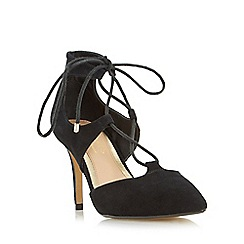 Head Over Heels by Dune - Black 'Calista' two part ghillie laced court shoe