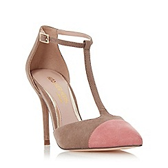 Head Over Heels by Dune - Light green 'Charon' t-bar colour block court shoe