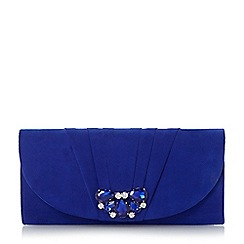 Roland Cartier - Metallic jewelled pleated trim clutch bag