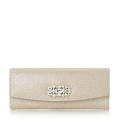 Roland Cartier - Gold 'Barline' embellished fold over clutch bag