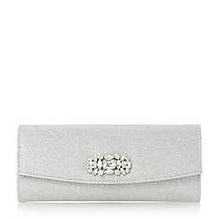 Roland Cartier - Silver 'Barline' embellished fold over clutch bag